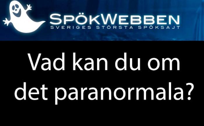 Spökwebben - Vad kan du om det paranormala?