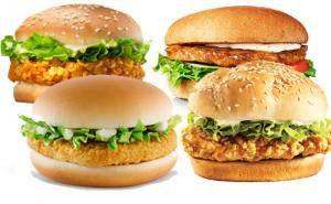 Kan du gissa vilken kycklingburgare som har mest kalorier?