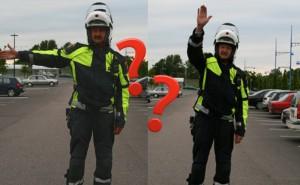 Bildtest: Vad betyder polisens olika tecken i trafiken?