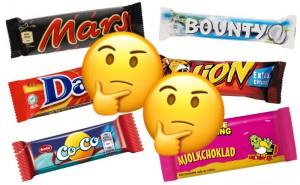 Quiz: Vilken chokladbit är billigast?