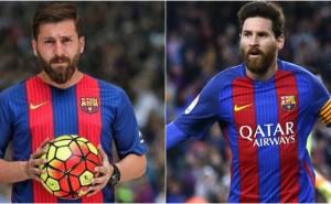 Iranska Reza ser exakt ut som Messi – ser du vem som är vem?